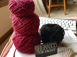 Grinasco Top Print and Zara yarns